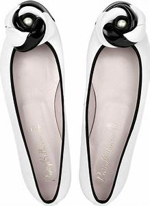 Pretty Ballerinas Black and White Leather Ballerina Shoes ...