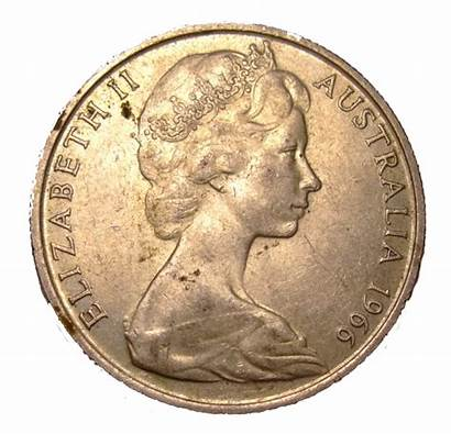 Cent Coin 1966 Round Obverse Australian Fifty