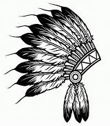 Coloring Indian Headdress Native American Pages Adults Popular sketch template