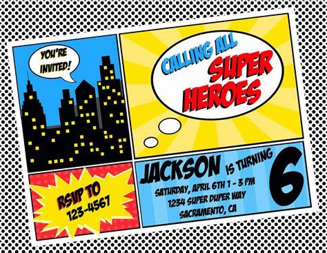 superhero invitation template superhero invitations