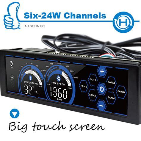 control panel fan alseye a 100h b fan controller 6 channels 5 25 lcd touch