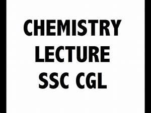 Chemistry / रसायन विज्ञान for SSC CGL and CHSL ( हिंदी में ...