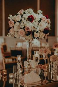 gatsby inspired wedding stunning floral table decor With burgundy wedding reception decorations