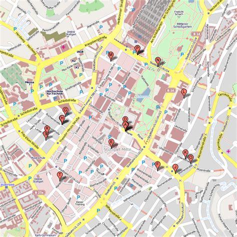 stuttgart on map map of stuttgart travelsfinders com