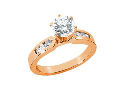 Genuine 0.65ct Round Diamond Engagement Ring Solid 14k