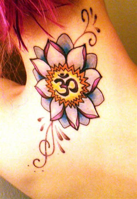lotus flower om tattoo om tattoo design lotus flower