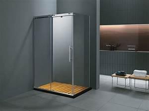 paroi de douche rectangulaire skara 90x120x185cm 51343 With porte de douche coulissante avec la boite a outils salle de bain