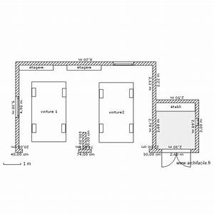 Garage 2 Voitures : garage 2 voitures plan 1 pi ce 6 m2 dessin par roblouchon ~ Melissatoandfro.com Idées de Décoration
