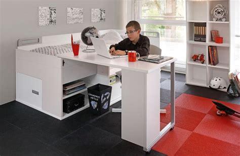 lit bureau pas cher lit adolescent pas cher avec rangements et bureau gautier