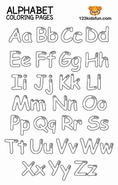 Alphabet Coloring Printable Pages Sheets Fun Numbers