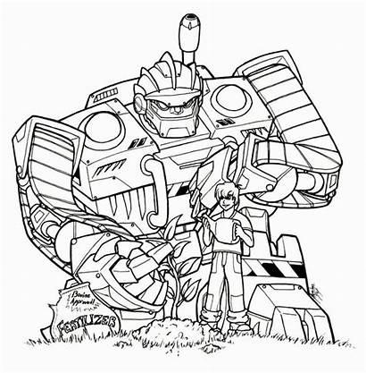 Rescue Bots Coloring Transformers Transformer Boulder Printable