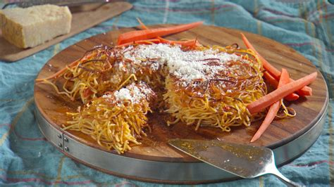 fried pasta snack recipe video martha stewart