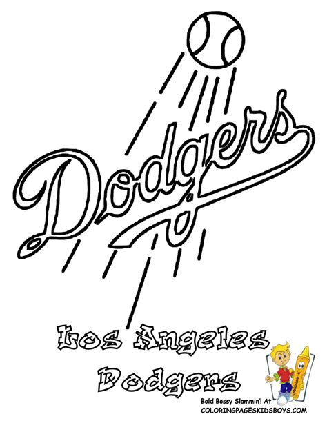 la dodgers colors grand baseball coloring pictures mlb baseball nl free