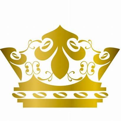 Crown Queen Clipart Elizabeth Crowns Transparent Gold