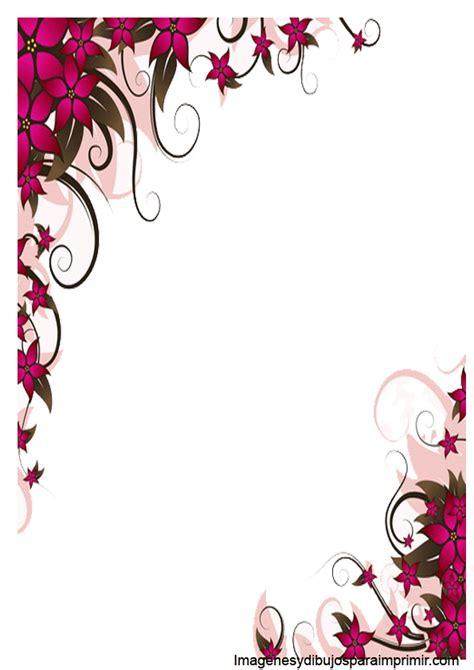 borde con flores para word hojas borde