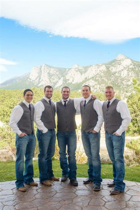 Estes Park Colorado Mountain Wedding Rustic Groomsmen