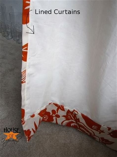 how to make lined curtains diy curtain rod pinch