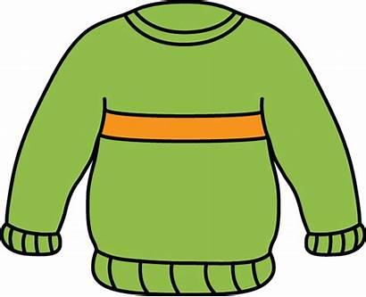 Sweater Clip Clipart Cloth Jumper Orange Sweaters