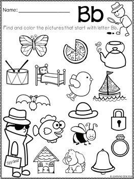 alphabet worksheets a z kindergarten beginning sound worksheets