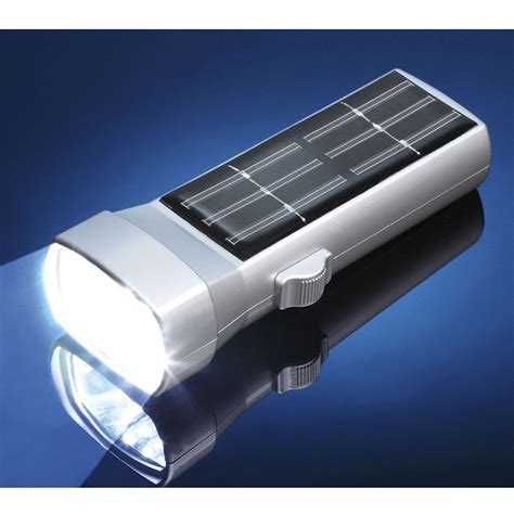 handy solar powered torch 6 leds innovations