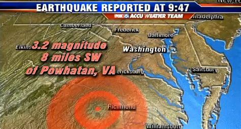 Small Earthquake Reported In Virginia