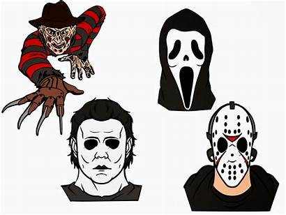 Scary Svg Movies Cricut Horror Silhouette Characters
