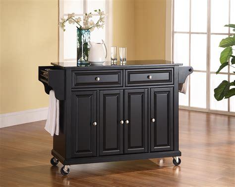attractive furniture solid black granite top kitchen cart