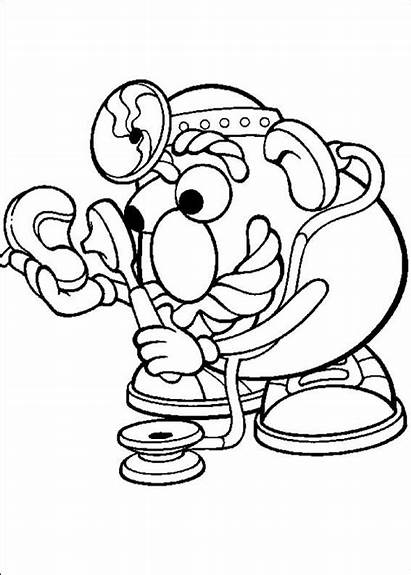 Potato Head Mr Coloring Pages Toy Story