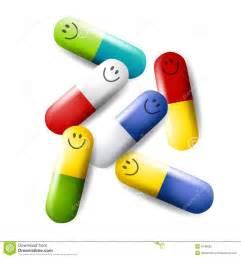 Clip Art Happy Pills Medication
