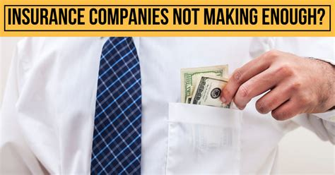 Here are the reasons why i believe selling insurance is a profitable business. Insurance companies not making enough profits!