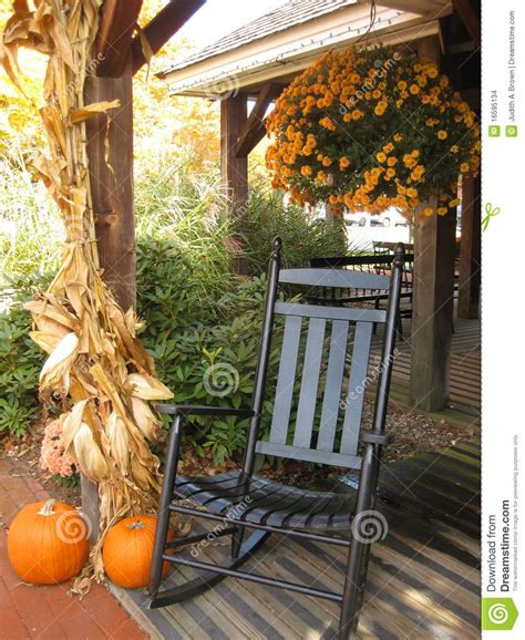 front porch  autumn stock images image