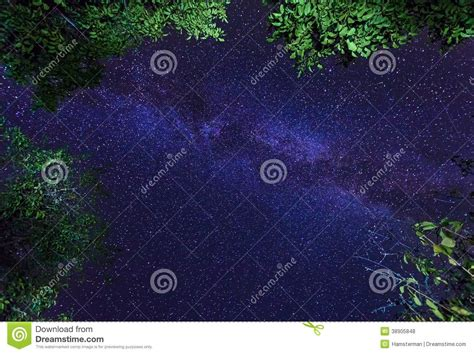 The Milky Way Galaxy Night Starry Sky Stock Photo