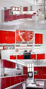 red and white kitchen cabinets interior design With kitchen design red and white