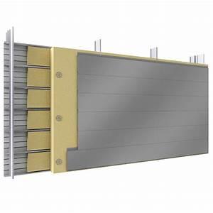 Bardage double peau avec lames acier ou aluminium en pose horizontale et plateaux pleins avec