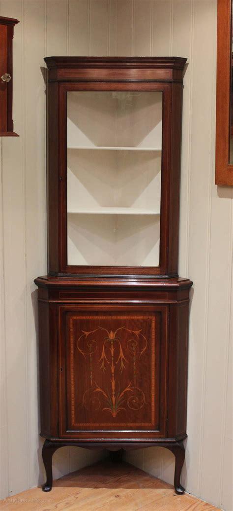 Corner Display Cabinet by Inlaid Mahogany Corner Display Cabinet Antiques Atlas