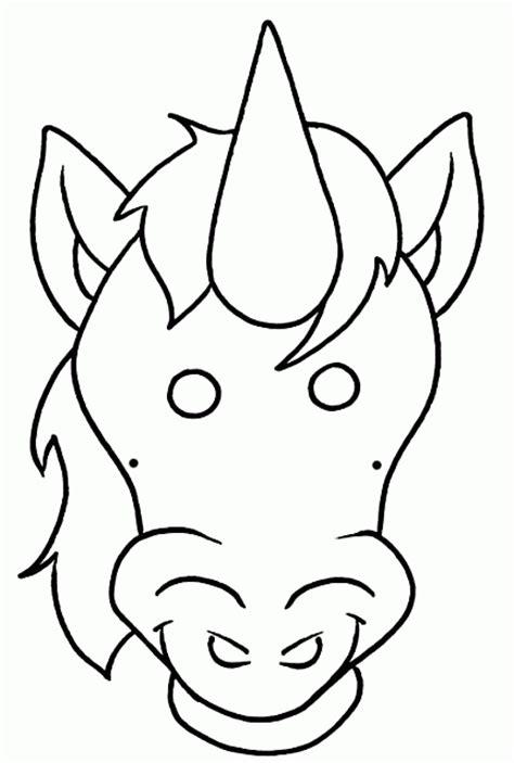 inviti unicorno da stare maschera da unicorno da colorare per bambini per carnevale