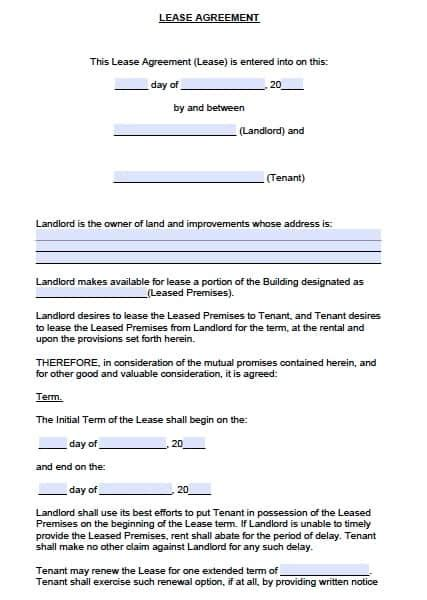 colorado commercial lease agreement  word