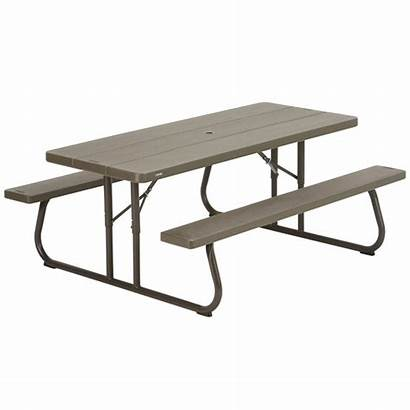 Picnic Lifetime Table Wood Benches Folding Faux