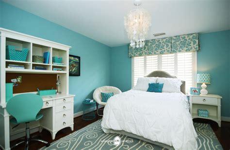 ocean inspired aqua girls bedroom transitional