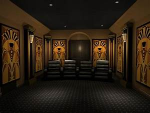 35 modern media room designs that will blow you away With art deco cinema interior