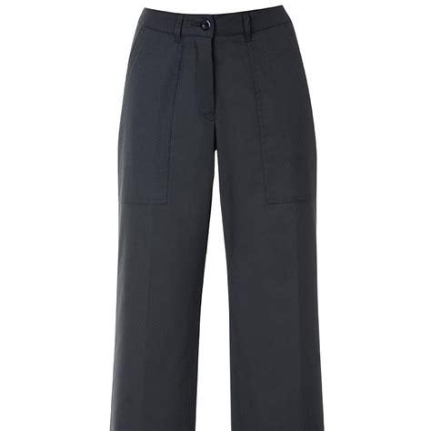 pantalon de cuisine noir pantalon cuisine femme noir coupe droite taille élastiquée dos