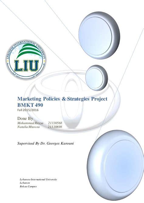 Toyota Marketing Strategy by Marketing Strategy Of Toyota