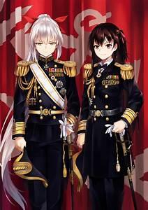 Long, Hair, Brunette, Anime, Anime, Girls, Kantai, Collection, Admiral, Kancolle, Uniform, Sword