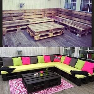 Faire Des Meubles Avec Des Palettes : palette en bois meuble de jardin2 ~ Preciouscoupons.com Idées de Décoration