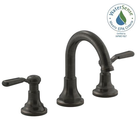kohler worth    handle widespread bathroom faucet  oil rubbed bronze    bz