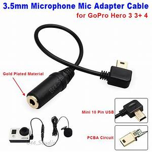 Mini Usb To 3 5mm Microphone Mic Adapter Wire Cable For