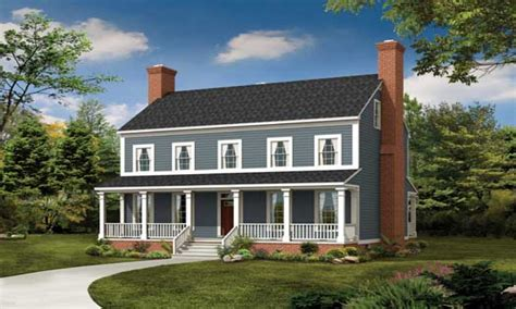 2 farmhouse plans 2 colonial front makeover 2 colonial style