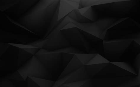 Abstract Black Triangle Background by Wallpaper Digital Abstract 3d Minimalism Low