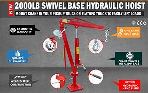 Mount This Winch Operated Jib Crane In Your Pickup Truck