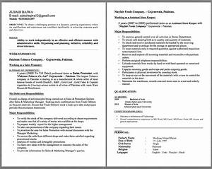 Objective For Certified Nursing Assistant Resumes Assistant Store Keeper Resume Examples Zubair Bajwa E Mail